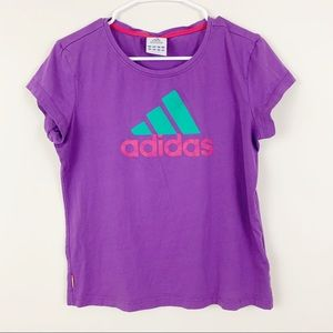 Adidas Large Purple Crew Neck Tee